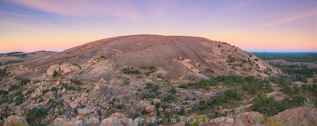 Enchanted Rock State Park - Panorama of the Summit from Turkey R